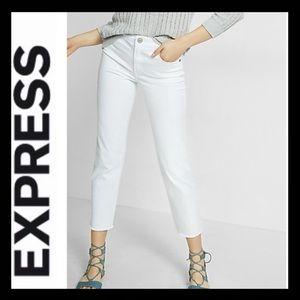 NWT Express High Rise Straight Crop
